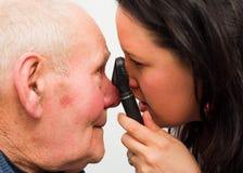 Augenarzt At Work Stockbild
