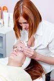 Augenbrauenerweiterung Lizenzfreie Stockfotos