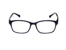 Augengläser des schwarzen Quadrats lokalisiert auf weißem Hintergrund Stockfoto