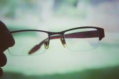 Augenglas lokalisiert auf bokeh Hintergrund lizenzfreie stockbilder