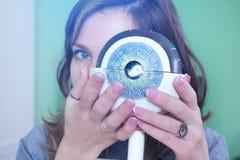 Augenheilkunde oculus Beispielnahaufnahme Lizenzfreie Stockfotografie
