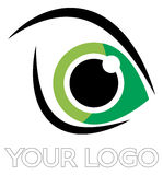 Augenlogo lizenzfreie abbildung