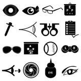 Augenpflegeikonen eingestellt lizenzfreie abbildung