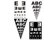 Augenprüfung Stockfotografie