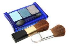 Augenschminke und Blusher stockfotografie