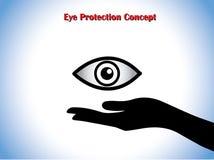 Augenschutz oder Augenarzt Concept Stockfotos