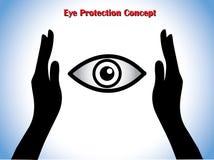 Augenschutz oder Augenarzt Concept Illustration Lizenzfreie Stockfotos