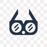 Augenschutz-Vektorikone lokalisiert auf transparentem Hintergrund, Ey stock abbildung