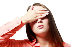Augenvorhänge Stockbild