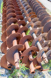 Augers for laying pipes in the ground Royalty Free Stock Images