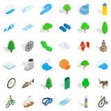 Augmentant des icônes réglées, style isométrique Photos stock