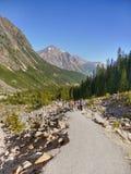 Augmentant en parc national, Canada Photographie stock libre de droits