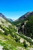 Augmentant en stationnement national de Torres del Paine, le Chili Photos libres de droits