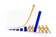 Augmentation contre la tendance en baisse Photos stock