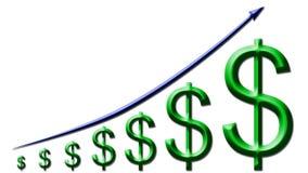 Augmentation de bénéfice illustration libre de droits