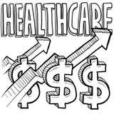 Augmentation de coûts de soins de santé Images libres de droits