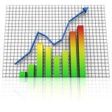 Augmentation de graphique de statistiques commerciales Image stock