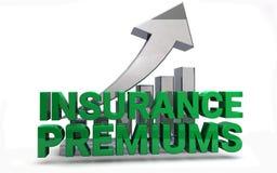 Augmentation de primes d'assurance médicale maladie Photos stock