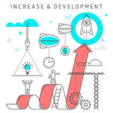 Augmentation et développement Photographie stock libre de droits