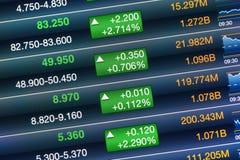 Augmentations du marché boursier Images stock