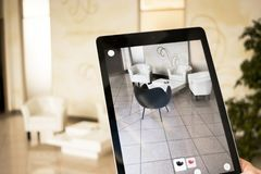 Augmented reality app - placing furniture in AR space. Augmented reality app - placing furniture in augmented reality in office space