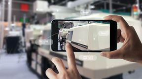 Free Augmented Reality Concept. AR. Industrial 4.0 Stock Photo - 148214300