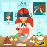 Augmented reality concept Royalty Free Stock Photo