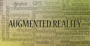 Augmented reality concept. Augmented reality is a live view of a physical, real-world environment whose elements are augmented by computer-generated sensory Royalty Free Stock Photos