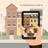 Augmented Reality game royalty free illustration