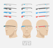 Augmented reality glasses stock illustration