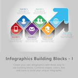 Infographic building blocks - I Royalty Free Stock Image