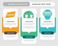Augmented reality, inflammation, soon infographic. Augmented reality business infographic template, the concept is option step with full color icon can be used Stock Image
