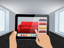 Augmented Reality Interior application Stock Images