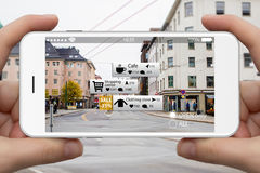 Augmented reality in marketing. Stock Images