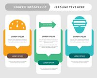 Augmented reality, peace of mind, high performance infographic. Augmented reality business infographic template, the concept is option step with full color icon Royalty Free Stock Photo