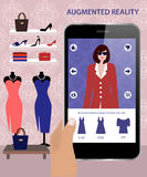 Augmented Reality and shopping Stock Image