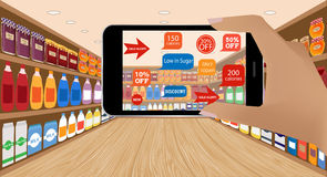 Augmented Reality and shopping Royalty Free Stock Image
