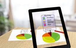 Augmented reality survey Stock Photography
