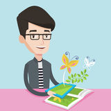 Augmented reality vector illustration. Royalty Free Stock Photo