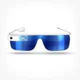 Augmented reality white glasses vector illustration