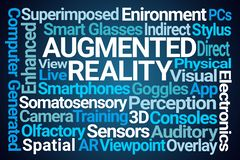 Augmented Reality Word Cloud royalty free illustration