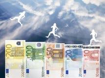 Augmenter d'euro valeur d'argent Photo stock