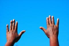 Augmenter de mains images libres de droits