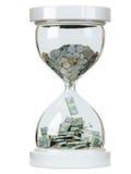 Augmentez dans des revenus d'argent comptant sur le backgr d'isolement blanc illustration stock