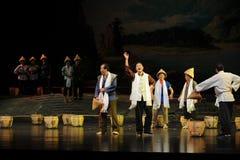 Augmentez l'opéra de Jiangxi de moral de troupe une balance Photographie stock