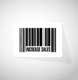 augmentez le concept de signe de code barres de ventes Images libres de droits