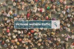 Augmentez le terme de glossaire de barre de recherche de Web du trafic de site Web Photographie stock libre de droits