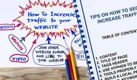 Augmentez le trafic à votre concept de site Web Images libres de droits
