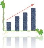 Augmentez une collecte de graphique de raisins illustration stock