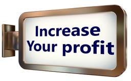Augmentez votre bénéfice sur le fond de panneau d'affichage illustration stock